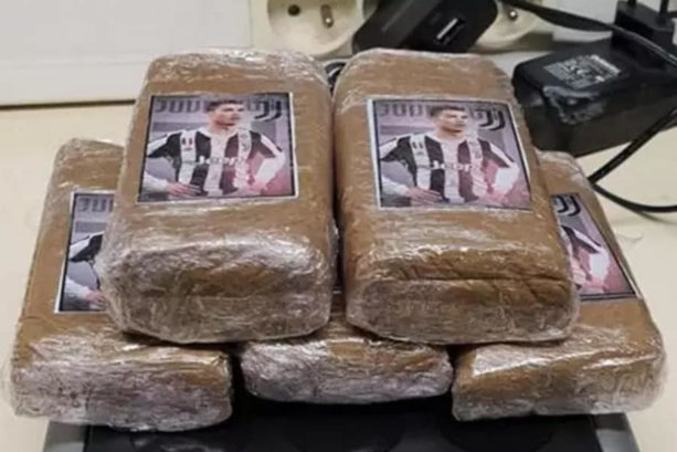 French police seized Cannabis & Cocaine In Bags with Cristiano Ronaldo On Them