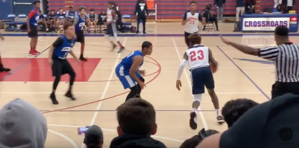 BRONNY JAMES DUNKS IN FIRST GAME in LA with LeBron WATCHING! 27 Pts CROSSROADS DEBUT