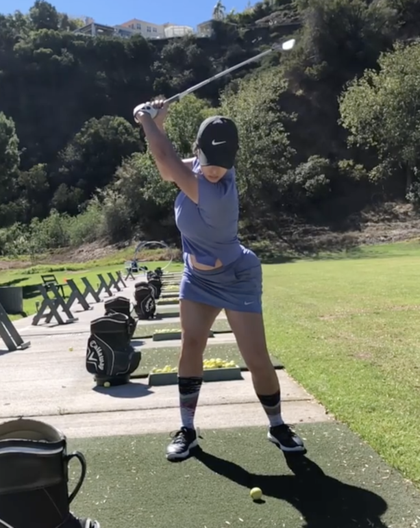 Just Because- Reggie Bush's Wife Shows Us Her Golf Swing