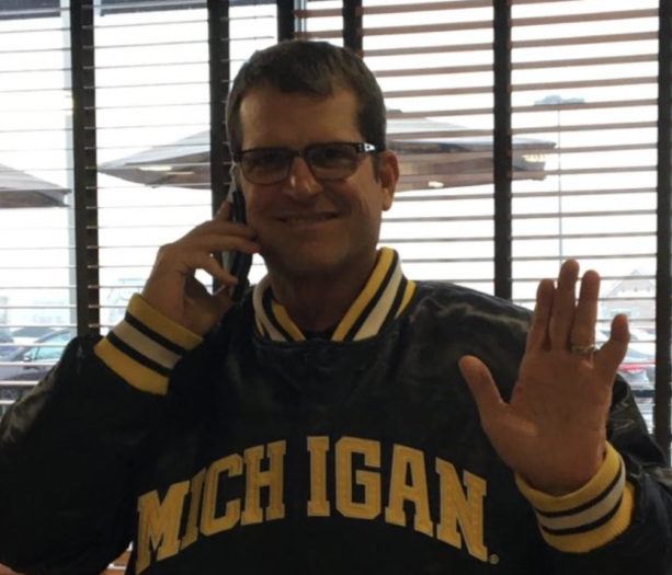 Jim Harbaugh Spotted At Ohio Kroger