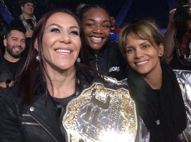 Cris Cyborg and Halle Berry Attend HBO's Last  Boxing After Dark