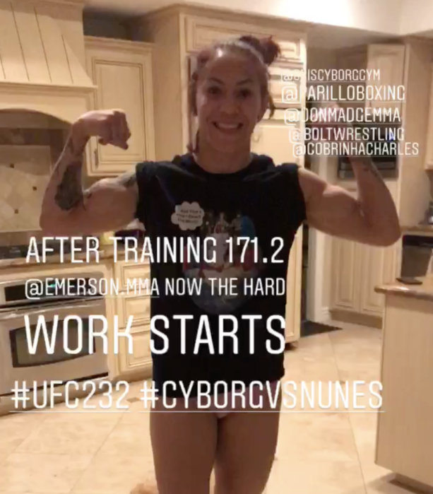 UFC Champion Cris Cyborg Checking In On Her Weight For UFC 232