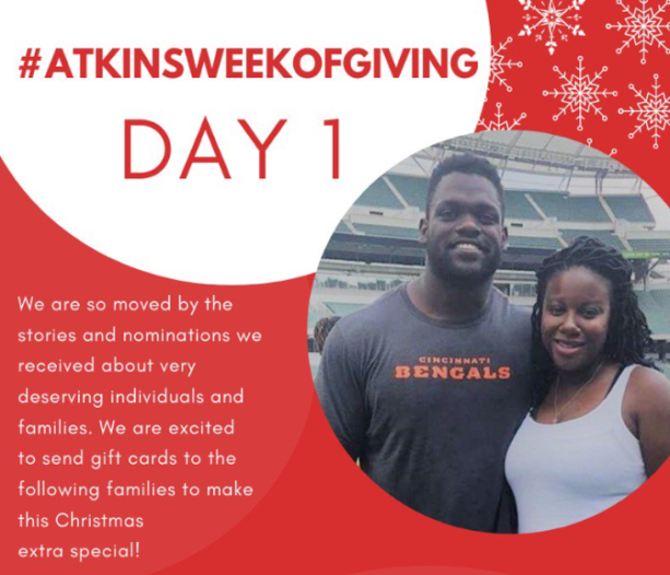 Geno Atkins Surprises 50+ Families By Paying Off House Medical & Tuition Bills For Holidays