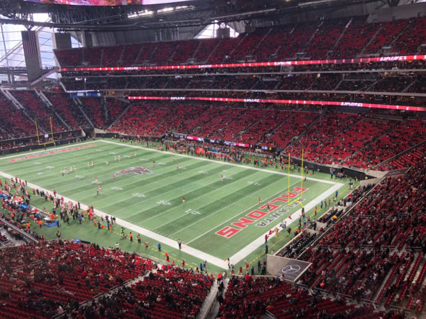 Falcons Fans Came Disguised As Empty Seats At Mercedes-Benz Stadium (PICS)