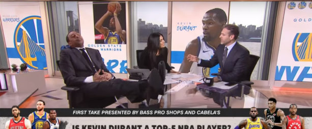 Stephen A. Smith Falls Asleep During Max Kellerman's Kevin Durant Take