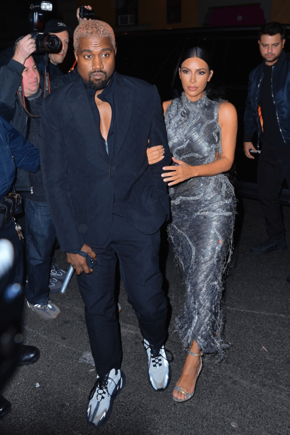 Kanye West & His Porn Star Wife Rocking The New Yeezy's