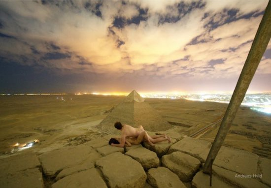 Climbing the Great Pyramid of Giza Just For Some Pretend Sex