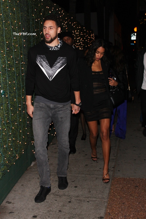 Full Sized Photo of laura harrier klay thompson seen out