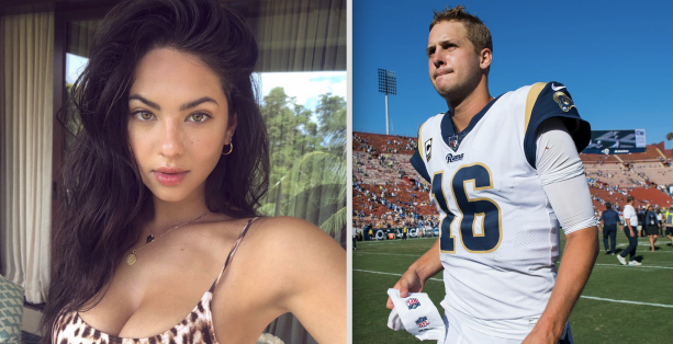 Jared Goff S Roommate Confirms Our Story About Him Dating Swimsuit Model Christen Harper Terez Owens 1 Sports Gossip Blog In The World