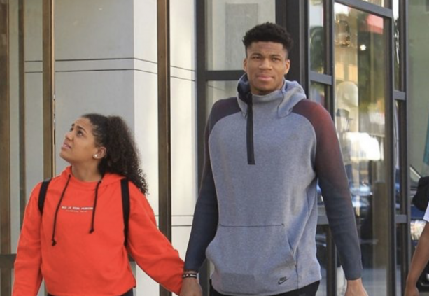 NBA Star Giannis Antetokounmpo Out In Beverly Hills With ...