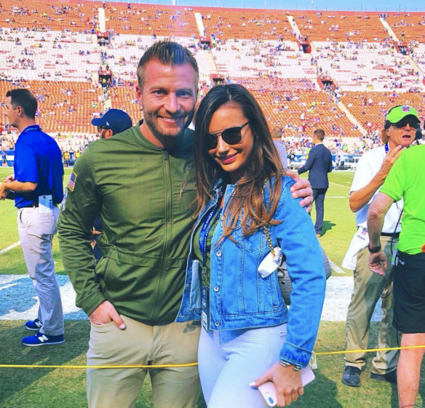 Rams Coach Sean Mcvay And Hot Wife With Some Super Instagram Pictures Terez Owens 1 Sports Gossip Blog In The World