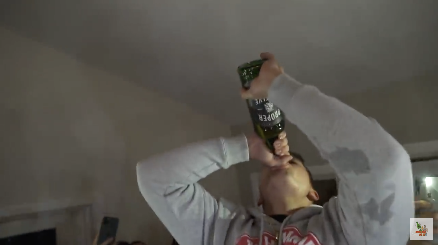 Kid Slams A Bottle Of Proper 12 Because Conor Mcgregor Won Terez Owens 1 Sports Gossip Blog In The World Stevewilldoit actually chugged a full bottle of conor mcgregor whiskey. kid slams a bottle of proper 12 because